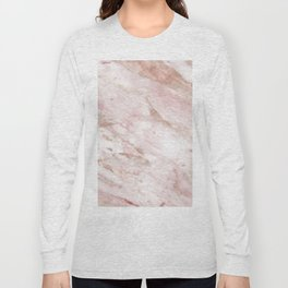 Pink marble - rose gold accents Long Sleeve T-shirt