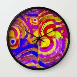 TWISTER COLLAGE Wall Clock