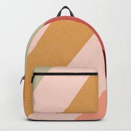 Retro Rainbow Chevron Pattern  Backpack