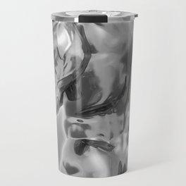 Male Chrome Bodybuilder (Black and White) Travel Mug