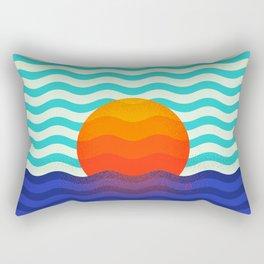 019 OWLY swimming at the sunrise Rectangular Pillow