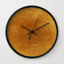 Autumn Orange Wall Clock