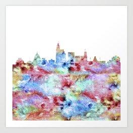 Jackson City Skyline Art Print