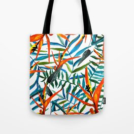 Exotic nature and flowers Tote Bag