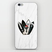 karl lagerfeld iPhone & iPod Skins featuring Santa Pug Lagerfeld  by LATIN for GLORY