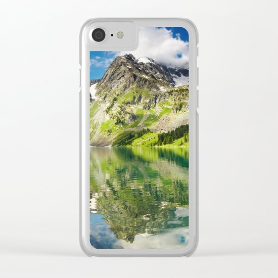 Mountain reflection #lake Clear iPhone Case