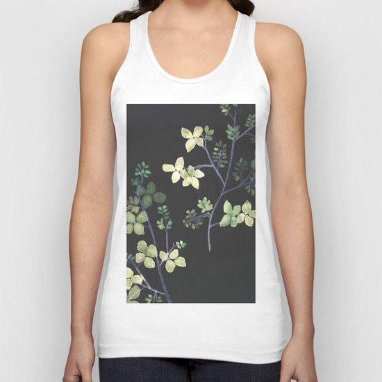 Olive Flowers Unisex Tank Top