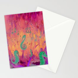 Sea Music Stationery Cards
