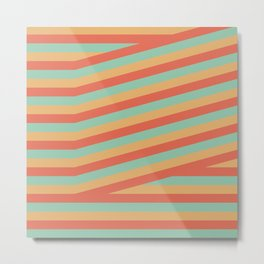 Summer stripes part 1 #eclecticart Metal Print