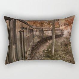 Evening Train Rectangular Pillow