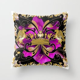 My Empire Collection Summer Set purple Flowers Throw Pillow