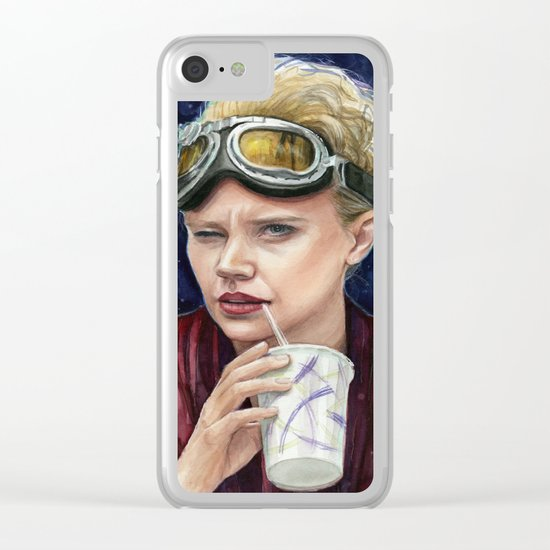 Holtzmann Ghostbusters Portrait Clear iPhone Case
