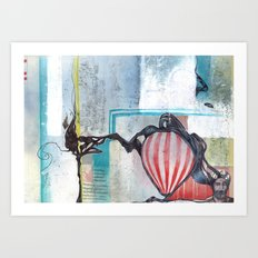 A Contrast Of Currents Art Print