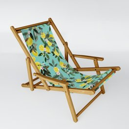 Summer Lemon Floral Sling Chair