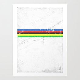 Jersey minimalist cycling Art Print