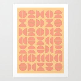 Burano in Peach Art Print