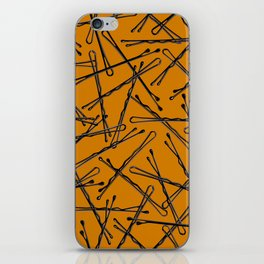 Bobby Pins Scattered iPhone Skin