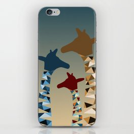 Abstract Colored Giraffe Family iPhone Skin