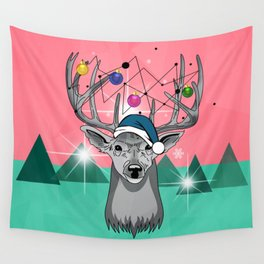 christmas deer Wall Tapestry
