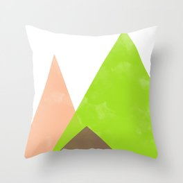 Peach And Pear Geometrics Throw Pillow