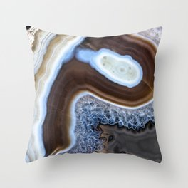 Latte foam agate Throw Pillow