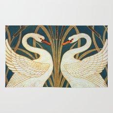 Walter Crane Swan, Rush And Iris Rug