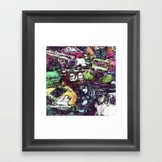 Cars And Trucks Framed Art Print