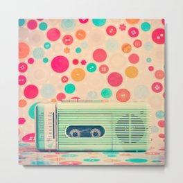 Radio Dots  Metal Print