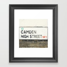 Camden High Street Sign Framed Art Print