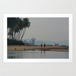 Along the Beach North Goa Art Print
