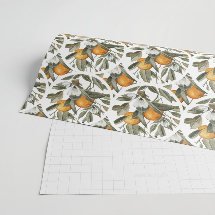 Orange Blossom Wrapping Paper
