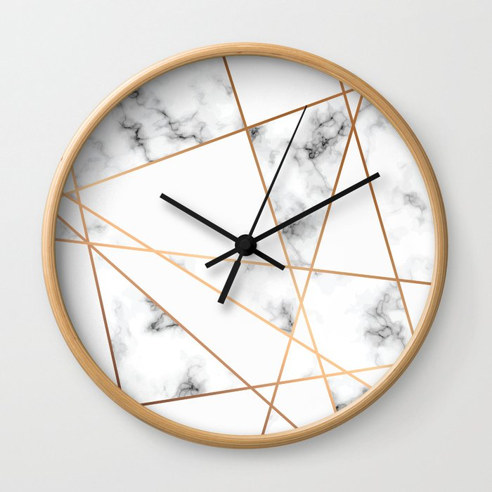 Marble Geometry 054 Wall Clock