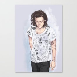 Harry 1D tattoos T-shirt Canvas Print