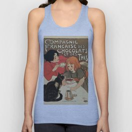 Vintage French tea and hot cocoa advertising Unisex Tank Top