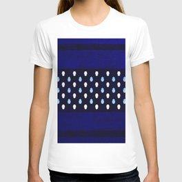 Indigo Calm Deep Blue Traditional Moroccan Khamsa Design T-shirt
