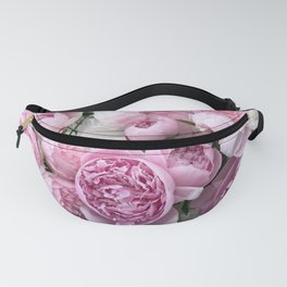 Shabby Chic Pastel Lavender Pink Peonies Fanny Pack