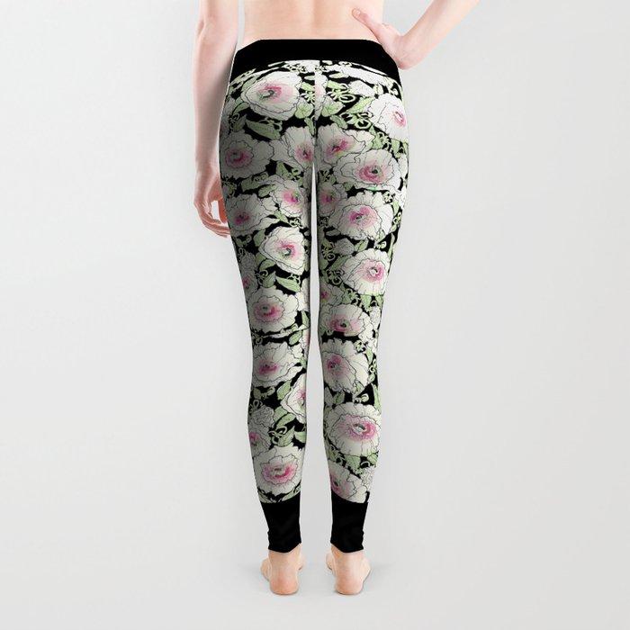 poppies creme Leggings