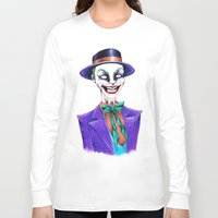 the joker Long Sleeve T-shirts featuring JOKER by ReadThisVA