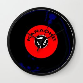 Karaoke 45 RPM Disc Wall Clock