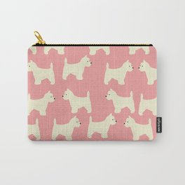 West Highland Terrier in pink Carry-All Pouch