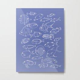 Busy aquarium Metal Print