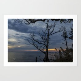 colington island sunset in the outer banks Art Print