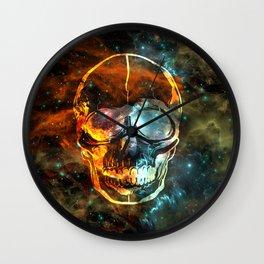 Galaxy Skull Wall Clock