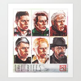 The Biffs - Every Biff, Griff, and Buford from Back to the Future Art Print