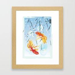 FISH FENG SHUI Framed Art Print