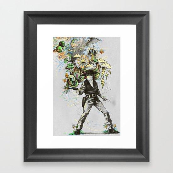 Quickdraw Framed Art Print