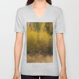 Fall color forest #decor #buyart #society6 Unisex V-Neck