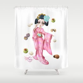 Wagashi pure Shower Curtain