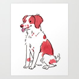 Reese - Watercolour Dog Art Print
