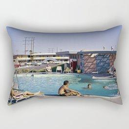 1958 Empey's Desert Villa pool in Las Vegas, Nevada. Retro Motel Rectangular Pillow